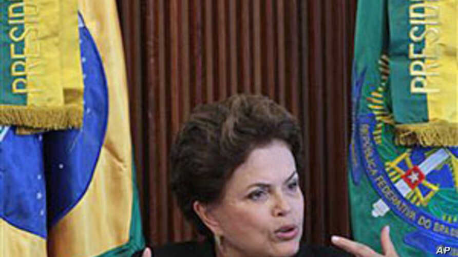 Brazil's President Dilma Rousseff speaks during the Citize