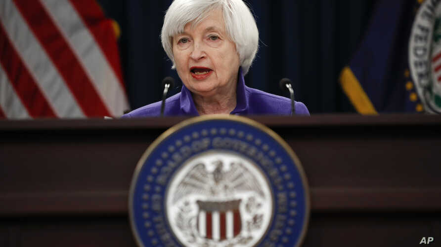 Federal Reserve Chair Janet Yellen speaks during a news conference following the Federal Open Market Committee meeting in Washington, Dec. 13, 2017.