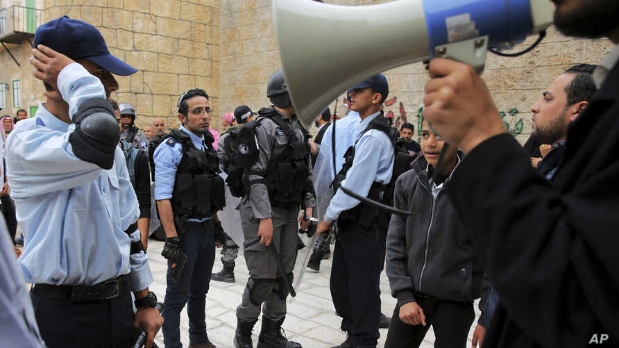The set is the latest effort by the al-Aqsa channel, run by Gaza's Islamic group Hamas rulers, to kick-start its drama production in the territory. (AP Photo/Adel Hana)