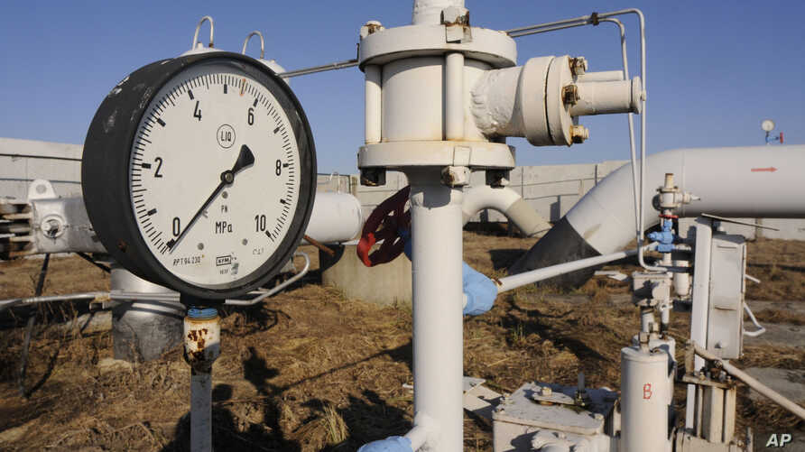 A gas pressure gauge of a main gas pipeline from Russia