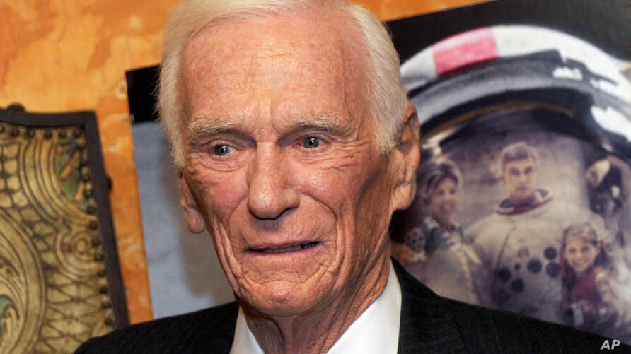 """Former Apollo astronaut Capt. Gene Cernan attends  a special screening of """"The Last Man On The Moon"""" in New York, Feb. 18, 2016."""