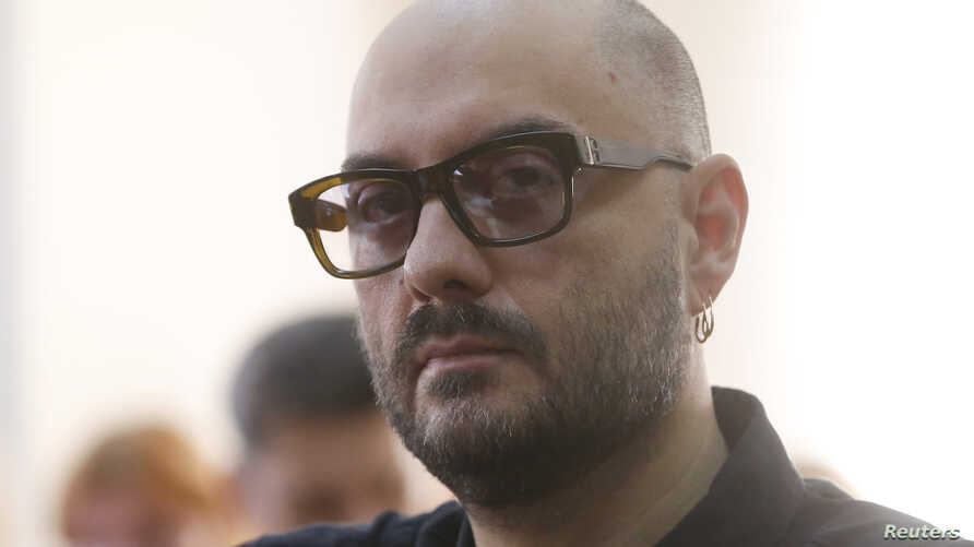 Russian director Kirill Serebrennikov, who was accused of embezzling state funds and placed under house arrest, attends a court hearing in Moscow, Sept. 4, 2017.
