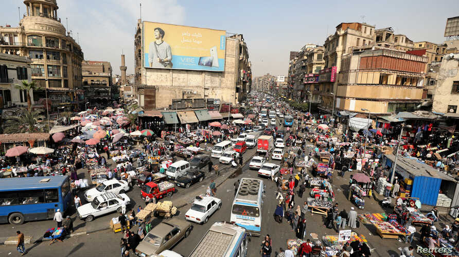 A general view of a street in downtown Cairo, Egypt, March 9, 2017.