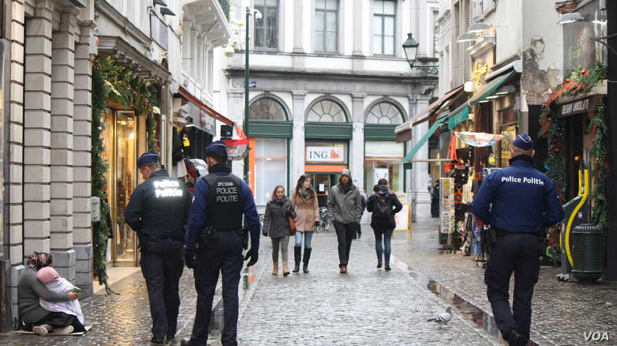 With the city at its highest state of alert, the streets of Brussels, normally packed with tourists, were quiet, Nov. 24, 2015.