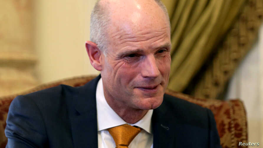 FILE - Dutch Foreign Minister Stef Blok attends a meeting with Egypt's Foreign Minister Sameh Shoukry in Cairo, Egypt, May 10, 2018.