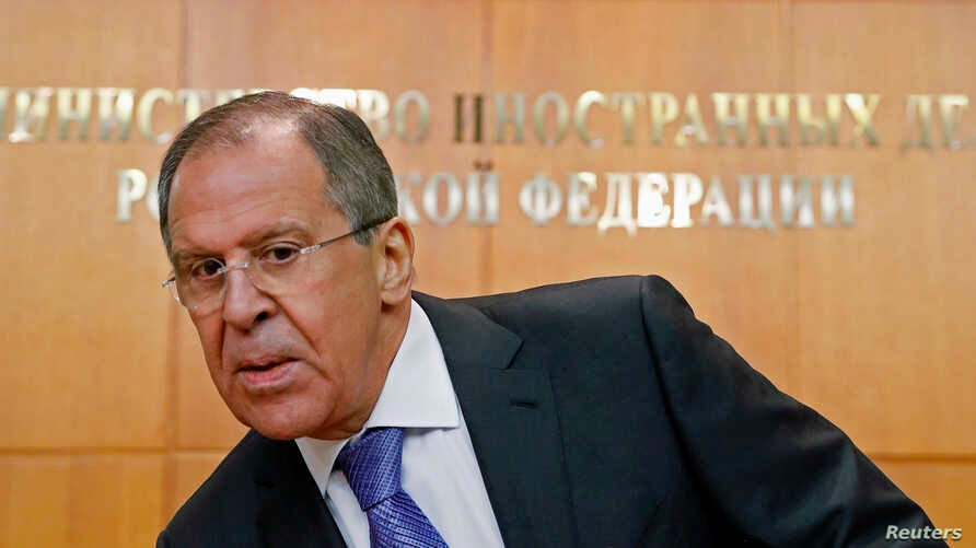 Russia's Foreign Minister Sergei Lavrov attends a news conference in Moscow, Jan. 21, 2015.