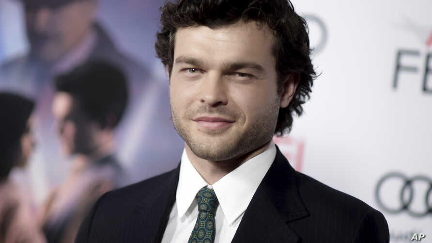 """FILE - Alden Ehrenreich arrives at the world premiere of """"Rules Don't Apply"""" in Los Angeles, Nov. 10, 2016."""