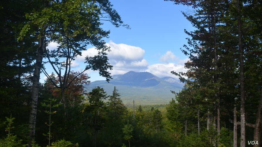 Mount Katahdin is the backdrop for views from trails in the Katahdin Woods and Waters National Monument.