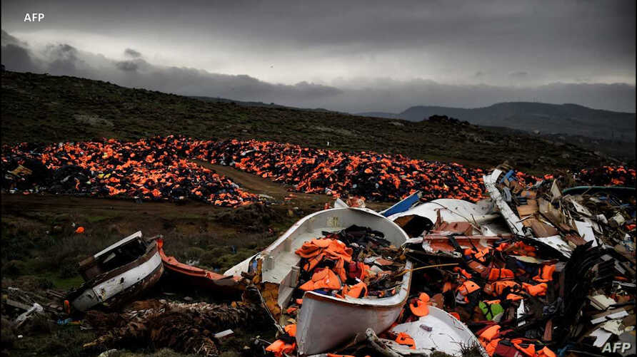 Lifejackets piled on this Greek beach have come to stand for the rigors and danger that migrants face trying to cross the Mediterranean Sea to reach Europe.