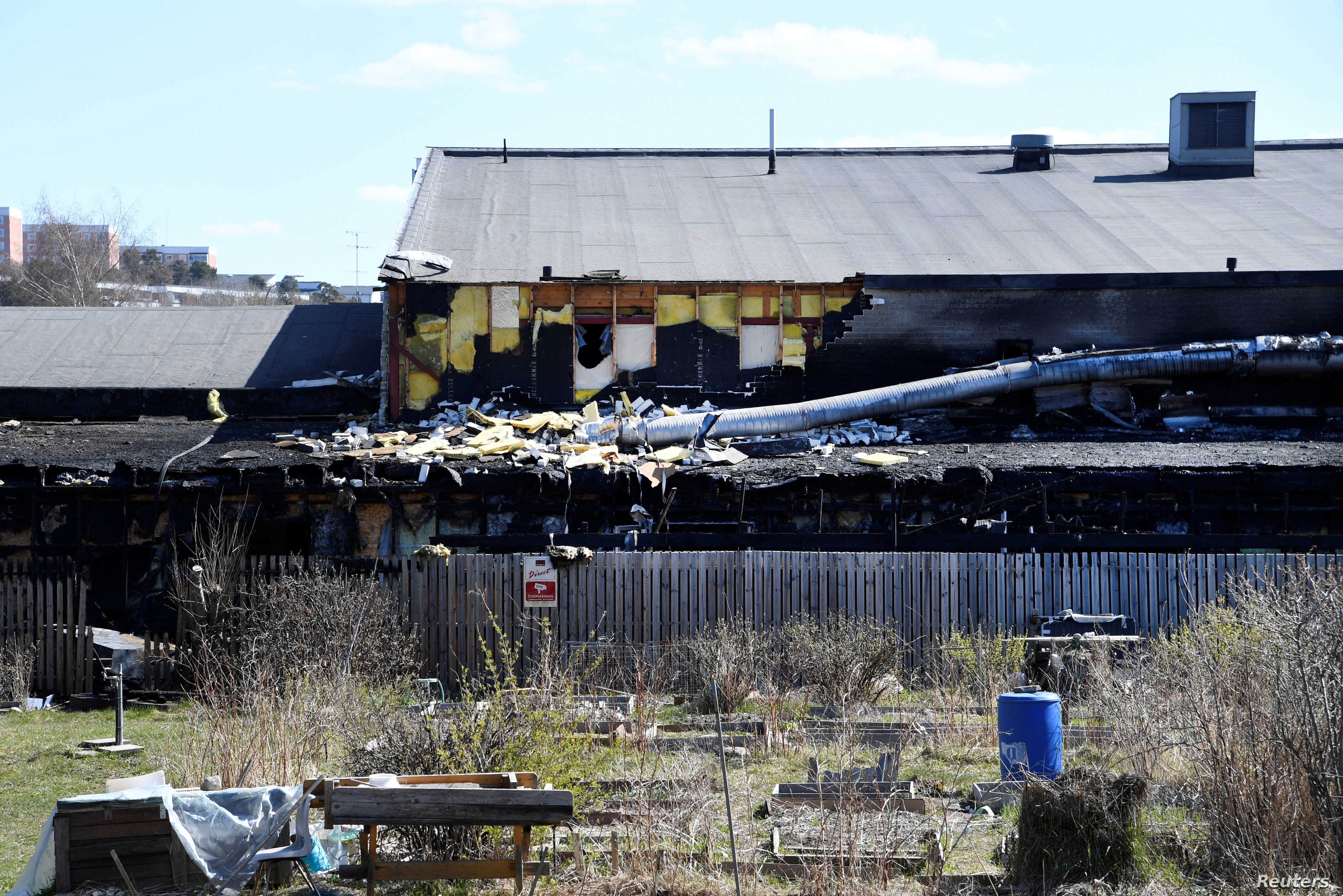 Parts of the Imam Ali mosque in Jarfalla north of Stockholm, Sweden has been destroyed in a fire during the night of May 1, 2017.
