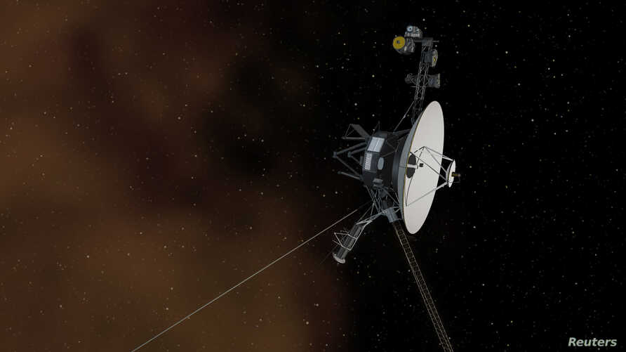 This undated artist's concept depicts NASA's Voyager 1 spacecraft entering interstellar space, or the space between stars. Voyager 1 spacecraft was officially the first human-made object to venture into interstellar space, according to a NASA stateme