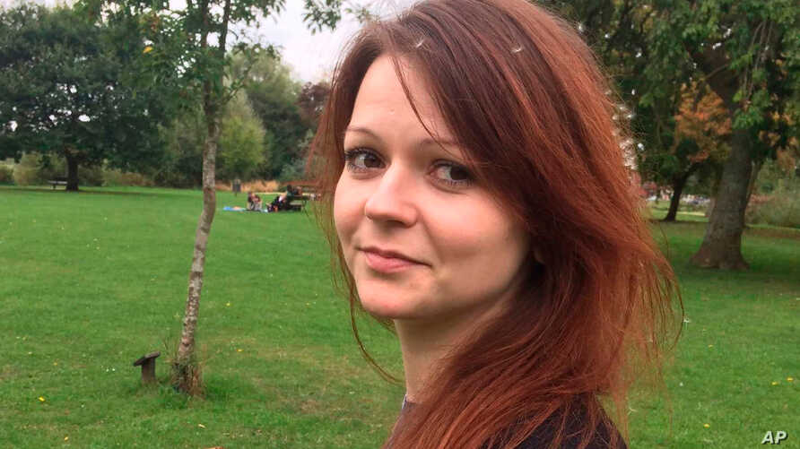 This is an image of the daughter of former Russian Spy Sergei Skripal, Yulia Skripal taken from Yulia Skipal's Facebook account on Tuesday March 6, 2018.