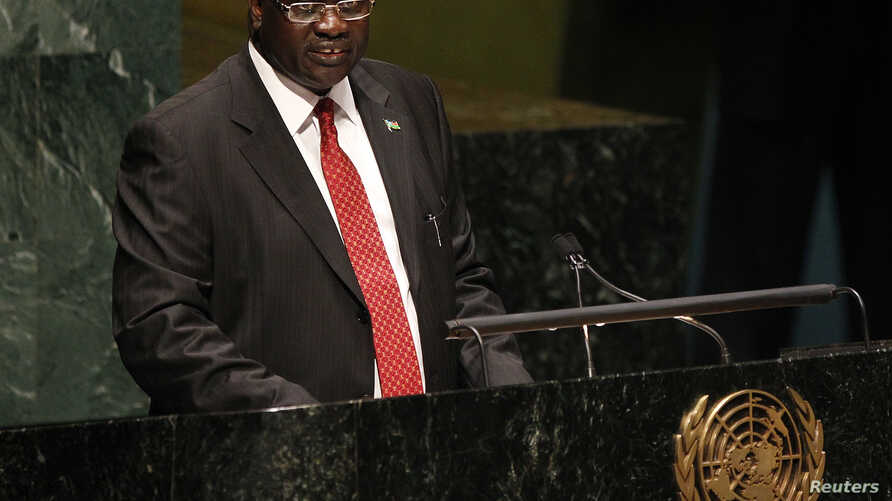 South Sudan's Vice President Riek Machar at United Nations General Assembly, New York, July 2011 file photo.