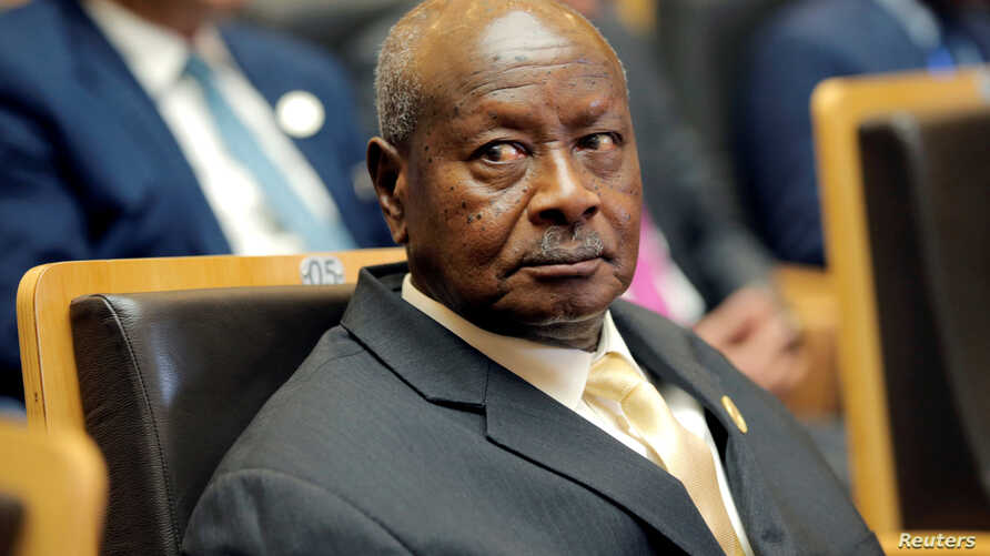 FILE PHOTO: Uganda's President Yoweri Museveni attends the 30th Ordinary Session of the Assembly of the Heads of State and the Government of the African Union in Addis Ababa, Ethiopia, Jan. 28, 2018.