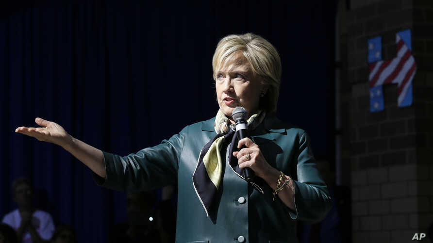 Democratic presidential candidate Hillary Rodham Clinton speaks during a community forum in Davenport, Iowa, Oct. 6, 2015.