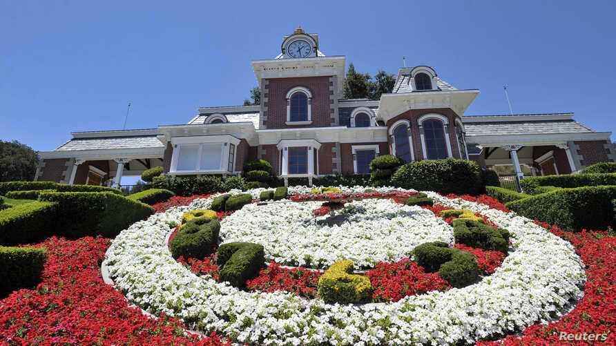 FILE - A general view of the train station at Michael Jackson's Neverland Ranch in Los Olivos, California, July 3, 2009.