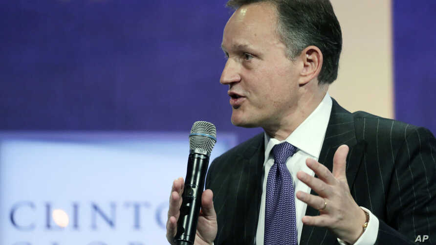 "FILE - Antony Jenkins, then Group Chief Executive of Barclays, participates in a seminar, ""Creating Business at the Base of the Pyramid,"" at the Clinton Global Initiative."