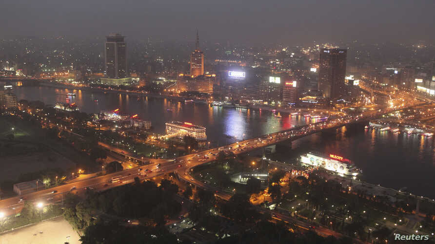 The 6th October bridge spans the River Nile in Cairo, June 2013.