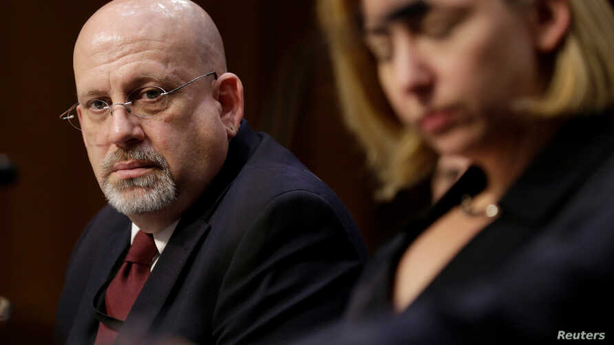 FILE - Samuel Liles, Acting Director of Cyber Division, Office of Intelligence and Analysis DHS, listens to testimonies about Russian interference in U.S. elections to the Senate Intelligence Committee in Washington, U.S., June 21, 2017.