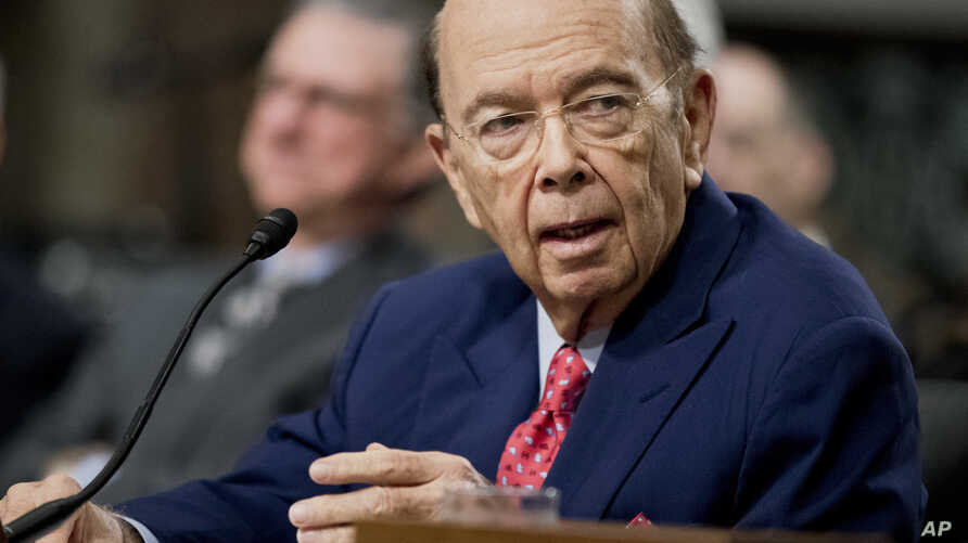 Commerce Secretary-designate Wilbur Ross testifies on Capitol Hill in Washington, Jan. 18, 2017, at his confirmation hearing before the Senate Commerce Committee.