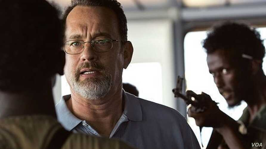 "Tom Hanks is seen in a scene from the movie ""Captain Phillips."" A new study says gun violence in PG-13 movies has tripled since 1985. (Sony Pictures)"