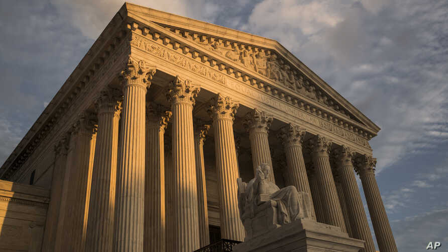 FILE - The Supreme Court in Washington, at sunset, Oct. 10, 2017. The Supreme Court is making new legal filings available online starting Monday, years behind the rest of the federal court system.