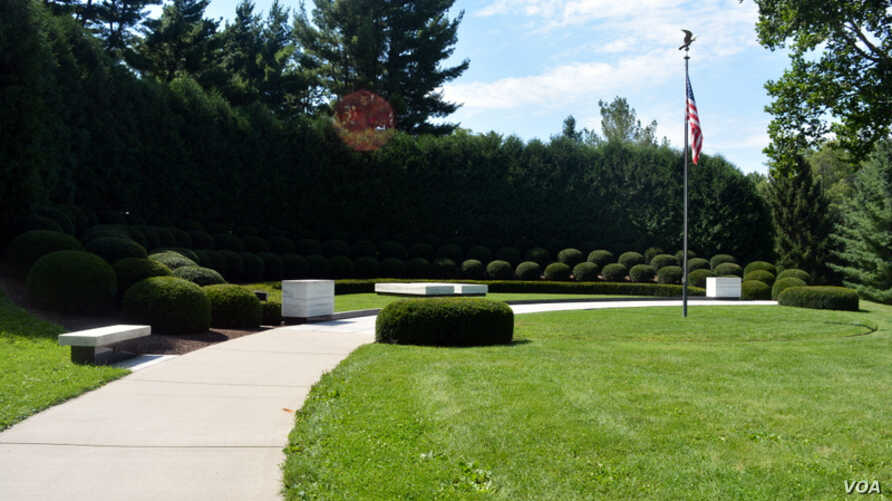 President Herbert Hoover and his wife Lou Henry Hoover were buried on the grounds at Herbert Hoover National Historic Site in West Branch, Iowa, the president's birthplace.