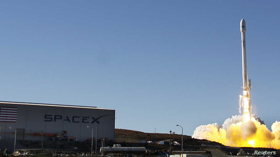 A Falcon 9 rocket carrying a small science satellite for Canada is seen as it is launched from a newly refurbished launch pad in Vandenberg Air Force Station September 29, 2013. The unmanned rocket blasted off from California on Sunday to test upgrad