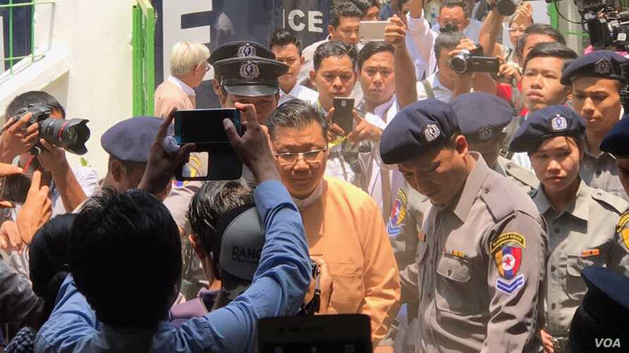 Myo Yan Naung Thein, Secretary of NLD's Central Committee for Research and Strategic Studies, is today sentenced to 7 months with electronic at 66 (D). He would be released early May as he has been detained since early November