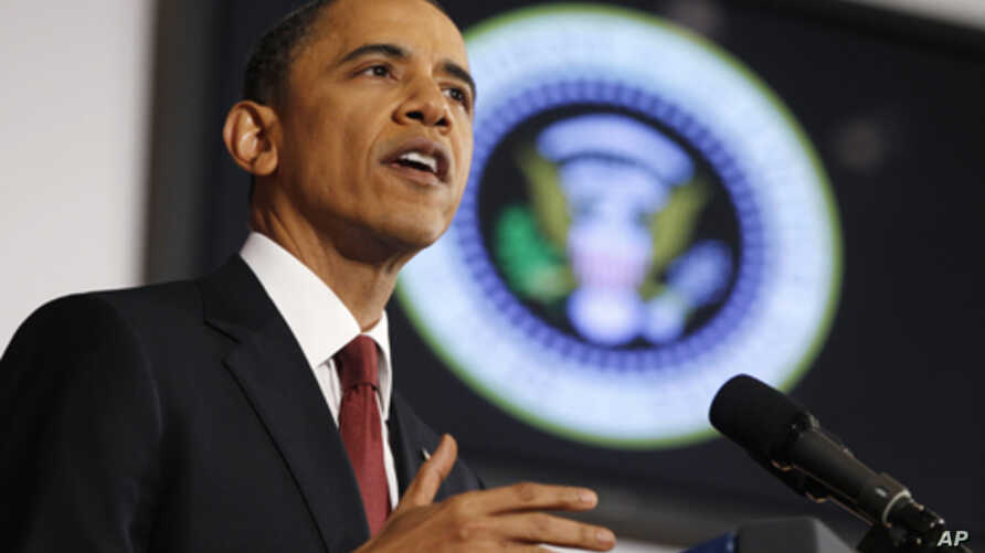 U.S. President Barack Obama speaks about the conflict in Libya during an address at the National Defense University in Washington, March 28, 2011