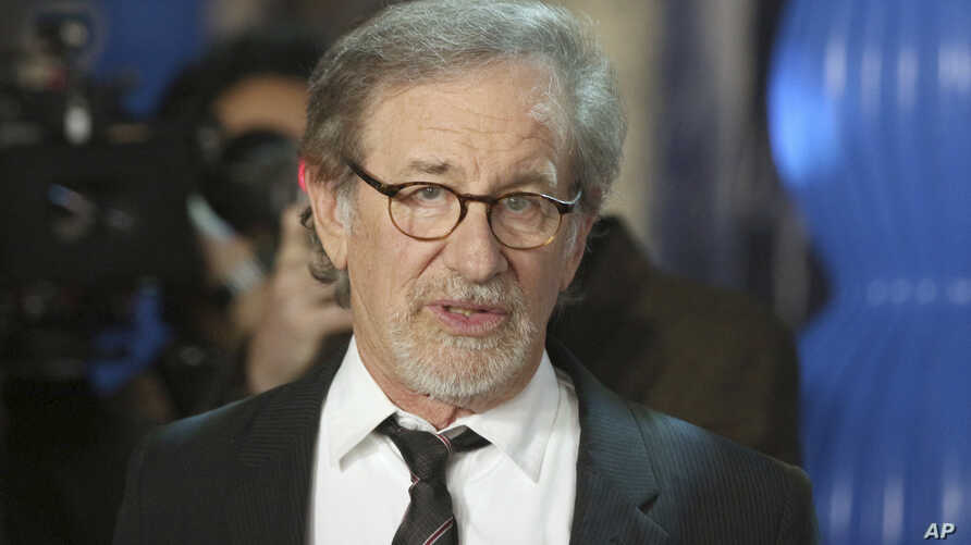 """Steven Spielberg arrives at the premiere of """"Spielberg"""" at Paramount Studios, in Los Angeles, California, Sept. 26, 2017."""