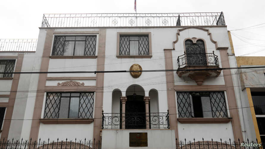 A view of the embassy of North Korea in Mexico City, Sept. 7, 2017.