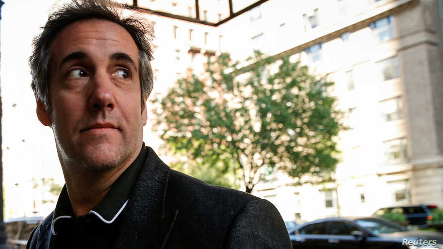 FILE - U.S. President Donald Trump's personal lawyer Michael Cohen arrives at his hotel in New York City, May 9, 2018.