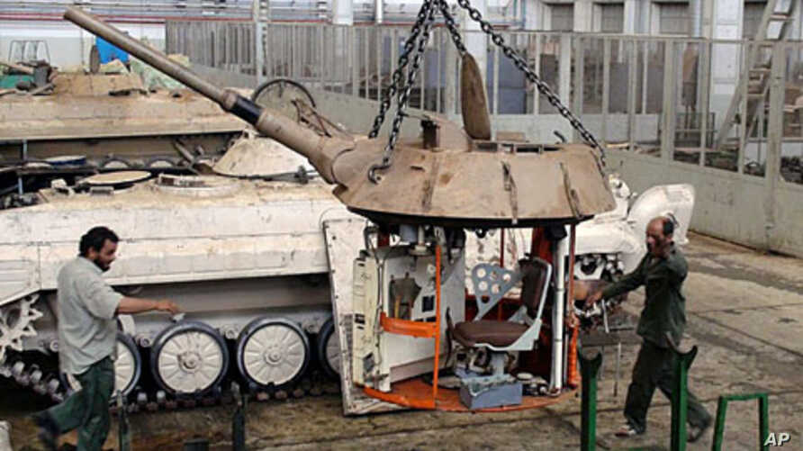 This original turret will be modified and set on the back of a pick-up truck, Benghazi, June 23 2011