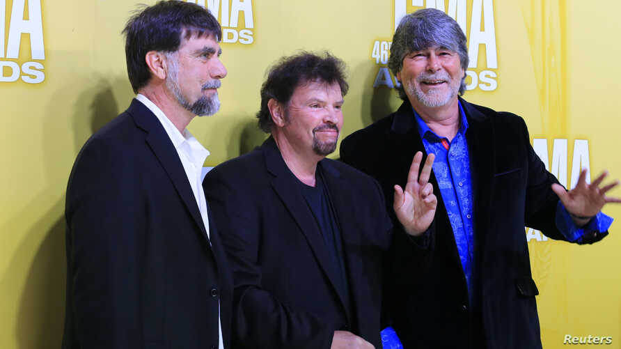 FILE - Alabama arrive at the 46th Country Music Association Awards in Nashville, Tennessee, Nov. 1, 2012.