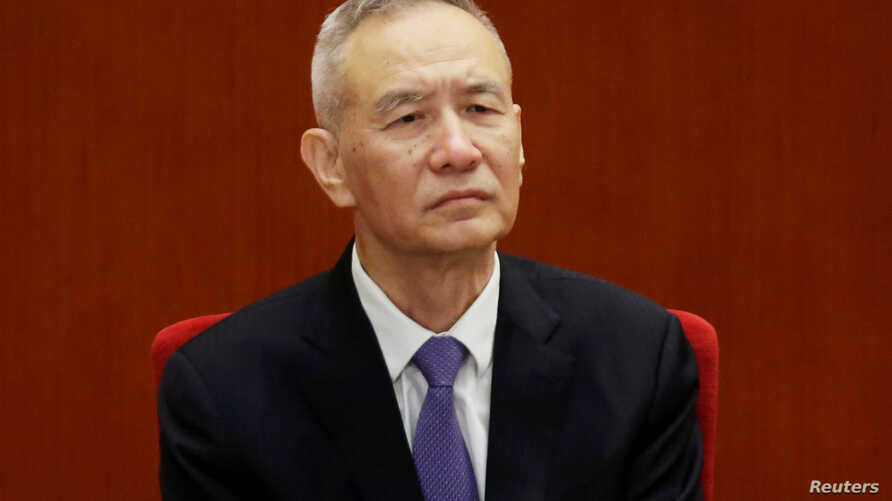 Chinese Vice Premier Liu He attends an event marking the 40th anniversary of China's reform and opening up at the Great Hall of the People in Beijing, Dec. 18, 2018.