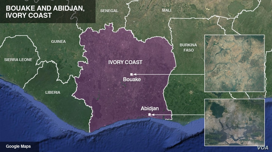 Bouake and Abidjan, Ivory Coast