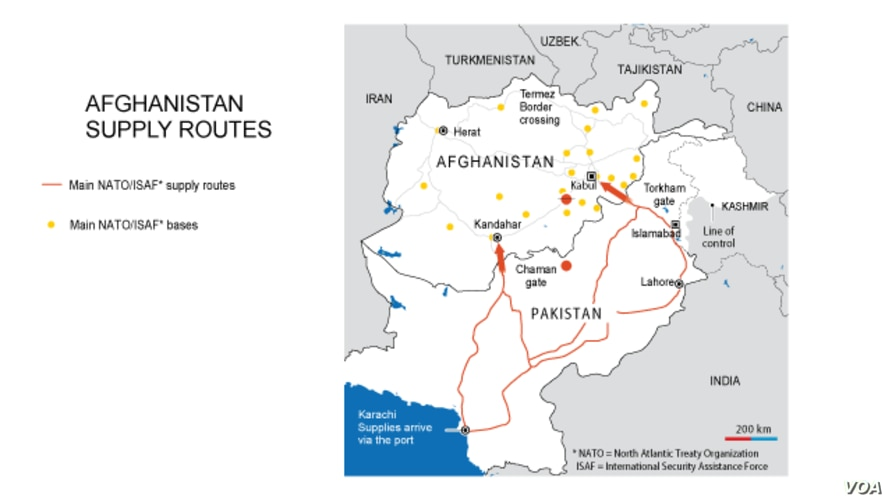 Afghanistan Supply Routes