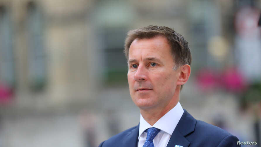 Britain's Secretary of State for Health and Social Care Jeremy Hunt arrives at the BBC in central London, Britain, July 9, 2018.