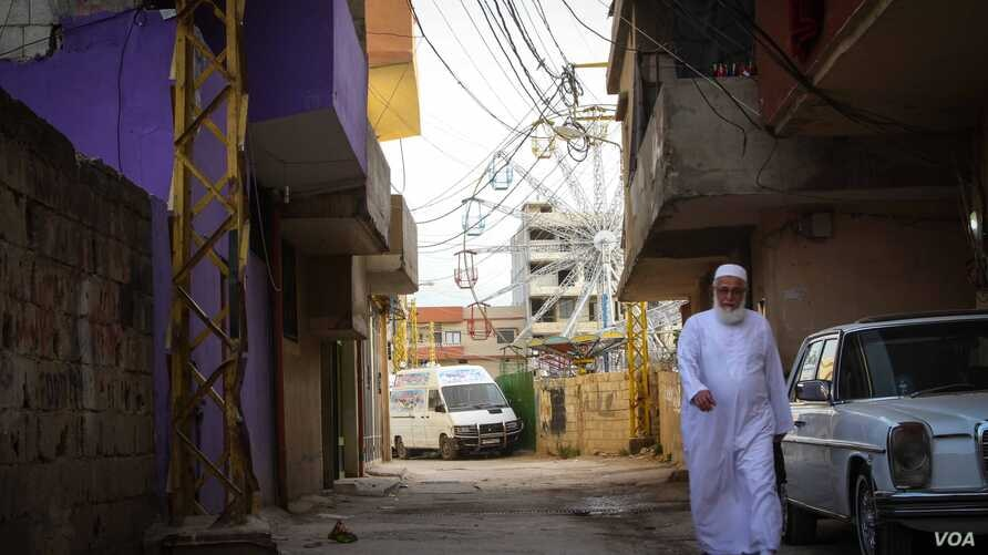 Nahr al-Bared was home to 30,000 residents before the clashes of 2007. The camp includes a small amusement park. (John Owens for VOA)