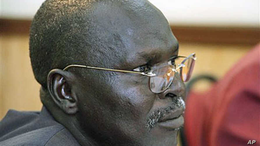 South Sudan rebel leader George Athor during a news conference in Nairobi ( Nov. 20, 2011 file photo).