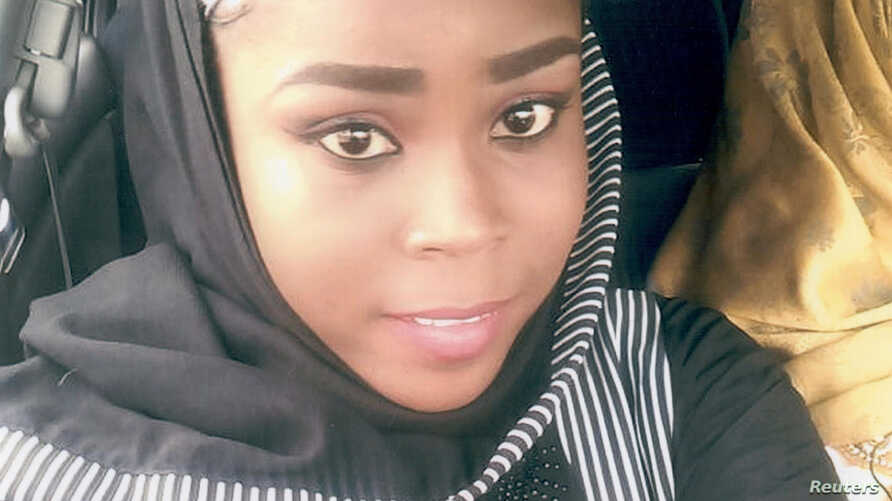 Medical worker Hauwa Mohammed Liman, who was held hostage by Islamic State in Nigeria since March, is pictured in this handout photograph obtained by Reuters on Oct. 14, 2018.