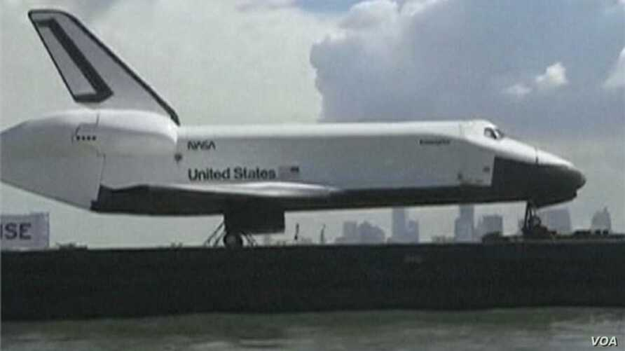 New Yorkers Welcome Enterprise Space Shuttle