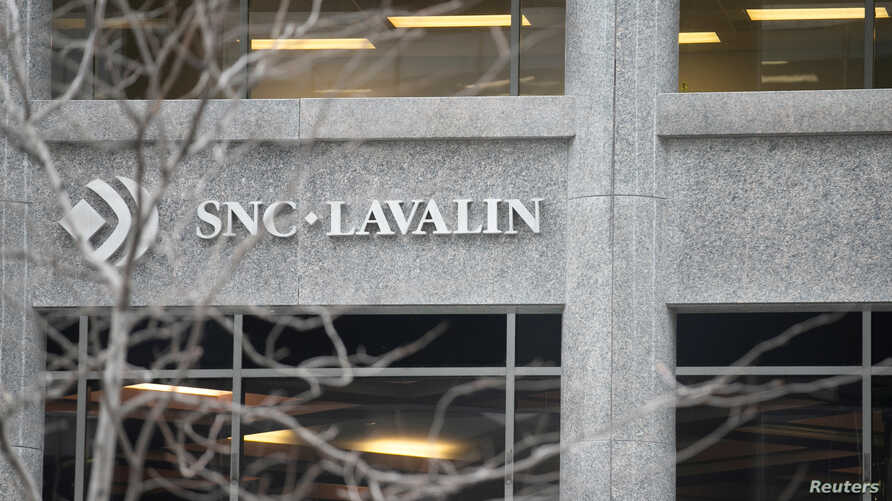 FILE - The SNC-Lavalin Group Inc., headquarters seen in Montreal, Quebec, Canada.