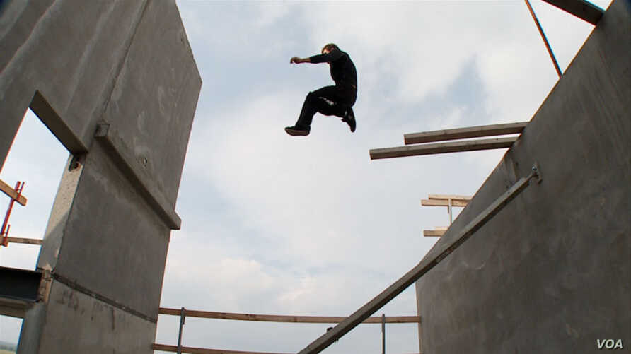 In parkour, or free running, participants run, jump, swing and tumble over just about any object or piece of architecture in their path.