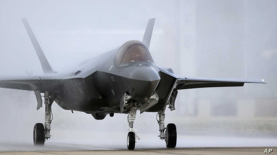 An F-35 arrives at its operational base at Hill Air Force Base, in the U.S. state of Utah, Sept. 2, 2015. Israel says it will buy 17 more of the highly sophisticated war planes, bringing the total number in its fleet to 50.