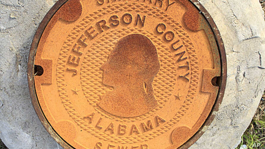 A manhole cover bears the logo/design of Jefferson County, Alabama. Alabama's Jefferson County submitted a second offer to creditors in an attempt to settle its $3.14 billion sewer bond debt, and to avoid what would be the largest municipal bankruptc