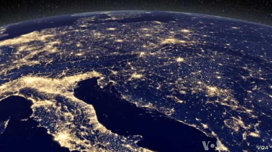View of Our World From Space at Night