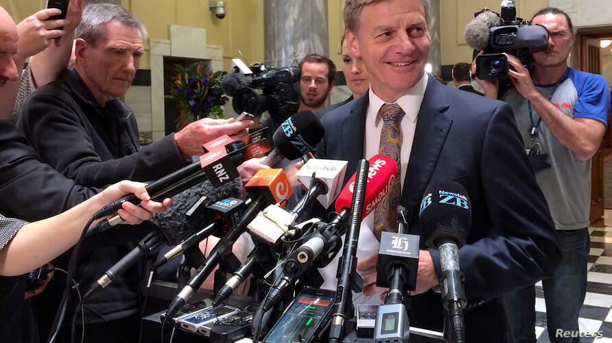 New Zealand Finance Minister and Deputy Prime Minister Bill English speaks to members of the media in Wellington, New Zealand, December 5, 2016.    REUTERS/Charlotte Greenfield/File Photo