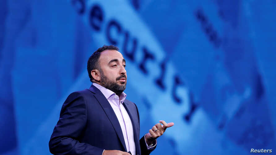 Facebook Chief Security Officer Alex Stamos gives a keynote address during the Black Hat information security conference in Las Vegas, Nevada, July 26, 2017.